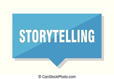 storytelling price tag - storytelling blue square price tag