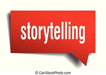 storytelling red 3d speech bubble - storytelling red 3d...