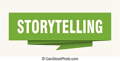 storytelling sign. storytelling paper origami speech bubble....