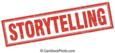 storytelling square stamp