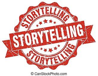 storytelling stamp. sign. seal