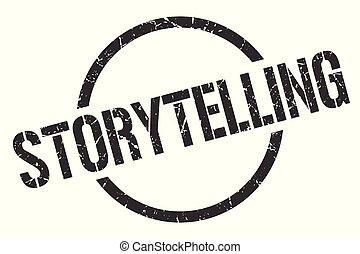 storytelling stamp - storytelling black round stamp