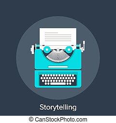 Storytelling - Vector illustration of storytelling flat...