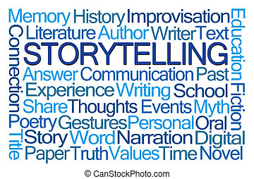 Storytelling Word Cloud on White Background