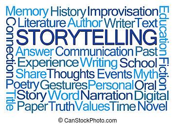 storytelling, wort, wolke