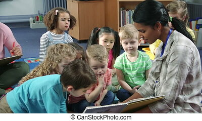 Storytime at Nursery - Students interacting with their...