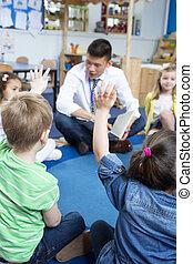 storytime, en, guardería infantil