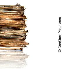 stos, papiery