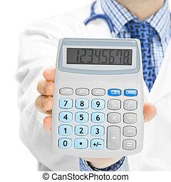 stosunek, doktor, kalkulator, -, holdling, 1