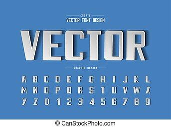stoutmoedig, ontwerp, papier, getal, tekst, achtergrond, grafisch, lettertype, lettertype, alfabet, vector