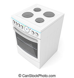 Stove - Electric stove on white background