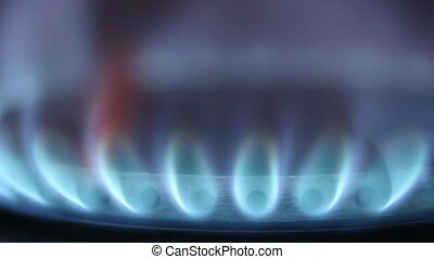 Stove Fire Gas in Kitchen