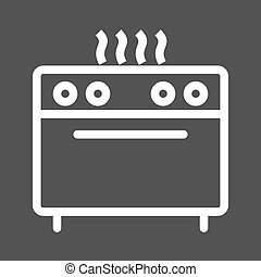 Stove, Gas - Stove, gas, burner icon vector image. Can also ...