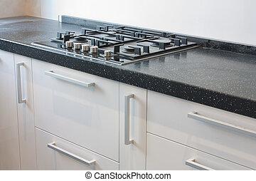 Stove - Modern kitchen interior photo