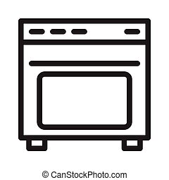 stove thin line vector icon