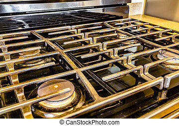 Stove top in model home