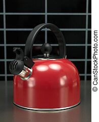 Stove Top Kettle - A stove top kettle on a kitchen bench