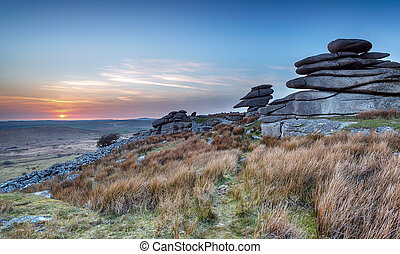 Stowes Hill on Bodmin Moor - Granite rock formations on ...