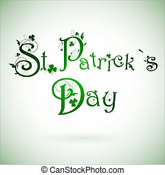 st.patrick, día, saludo