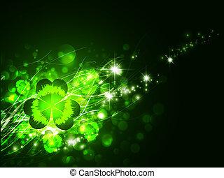 St.Patrick day - St.Patrick holiday night magic background ...
