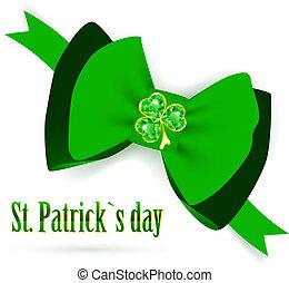 St.Patrick holiday green bow