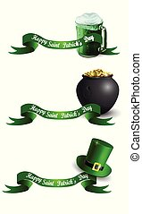 St.Patrick s Day banner with beer mug