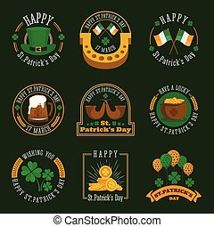 St.Patrick's day badge and label collection