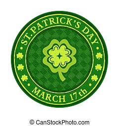 St.Patrick's day green beer coaster isolated