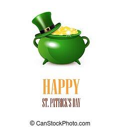 St.Patricks Day card. Vector illustration.