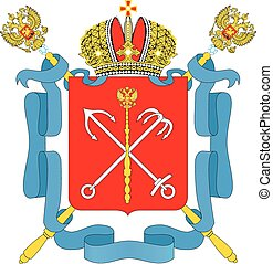 Stpetersburg city coa - Various vector flags, state symbols,...