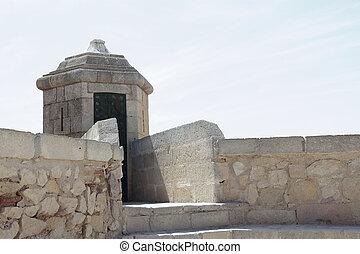 strážní budka, do, santa barbora, věž