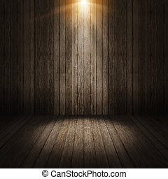 stråle, lätt, på, vägg