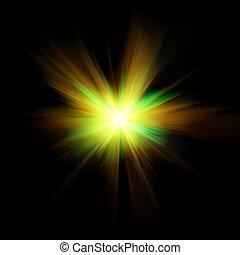 stråle, signalljus