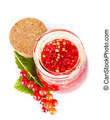 strömung, marmelade, rotes