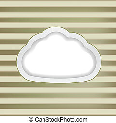 str, felhő, retro, háttér