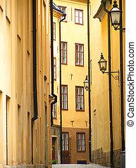 straße, altes , stockholm