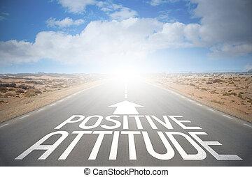 straße, begriff, -, positive einstellung