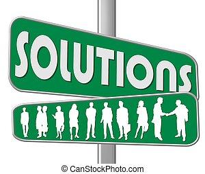 straße, lösungen, zeichen
