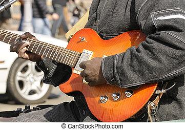 straße musiker, spielende