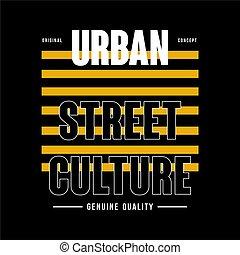 straße, städtisch, typographie, kultur, -