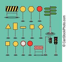 straße zeichen, design