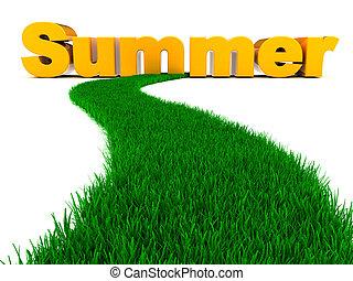 straße, zu, sommer