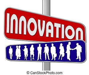 straßenschild, innovation
