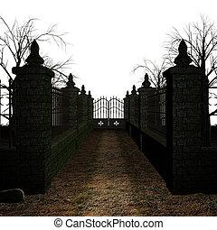 strašidelný, hřbitov