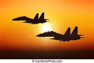 straalvliegtuig, vechters