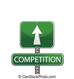 straat, competitie, meldingsbord
