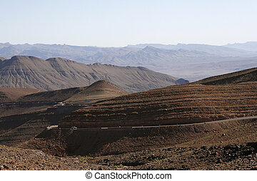 straat, door, de, de bergen van de atlas, in, marocco