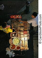 straat etenswaar, verkoper