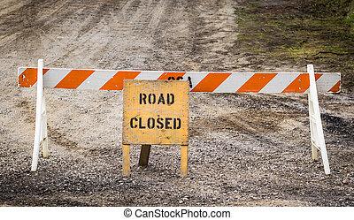 straat gesloten voorteken