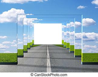 straat, illusie